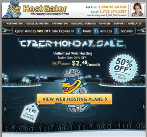 HostGator Cyber Monday 2012