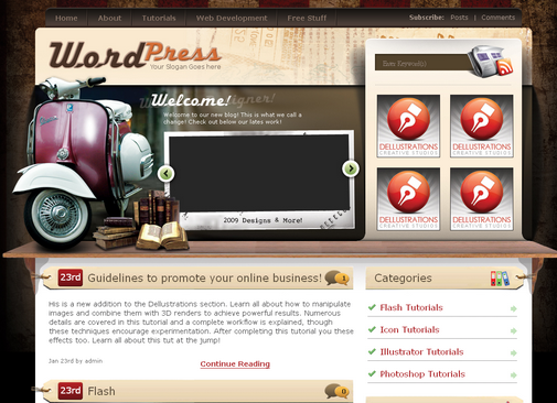 vintage wordpress theme Making Money Online By Creating Wordpress Themes