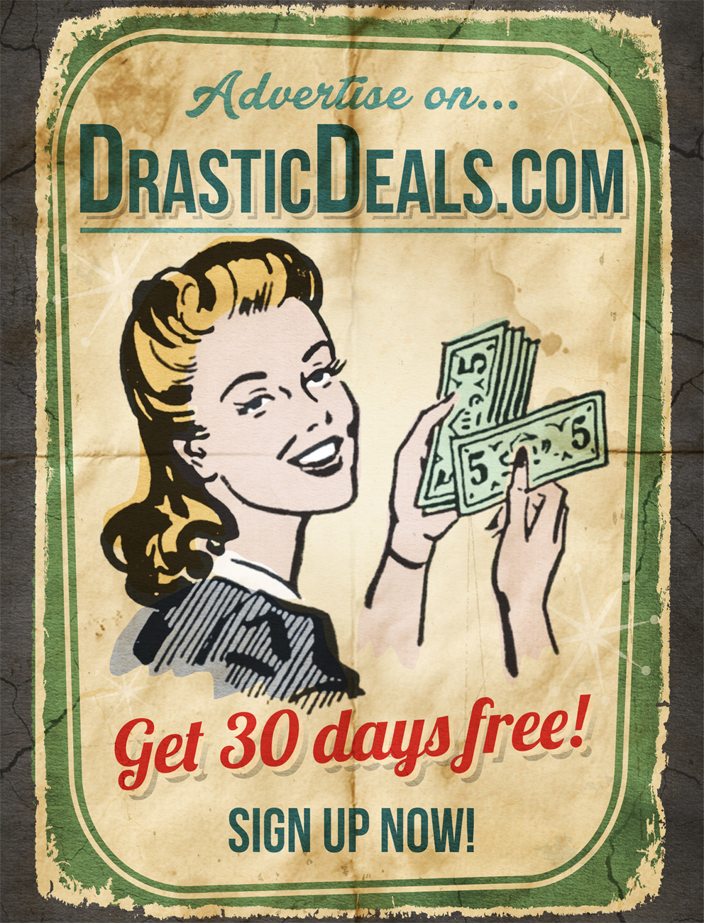 DrasticDeals.com Advertising