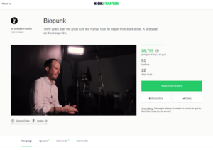 Biopunk Movie Kickstarter