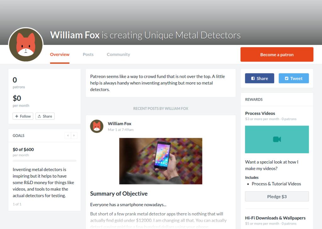 William Fox Metal Detector