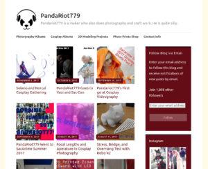 Pandariot779 screen shot of web site