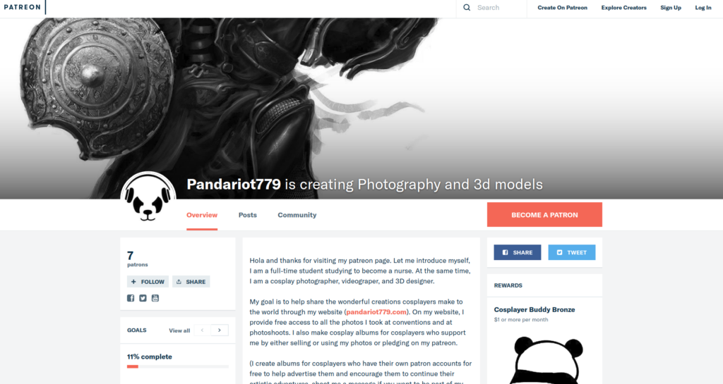 Patreon 3D Models