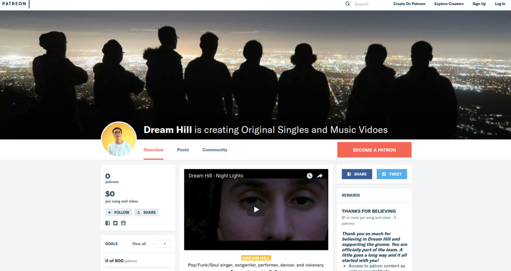 Dream Hill Patreon Page