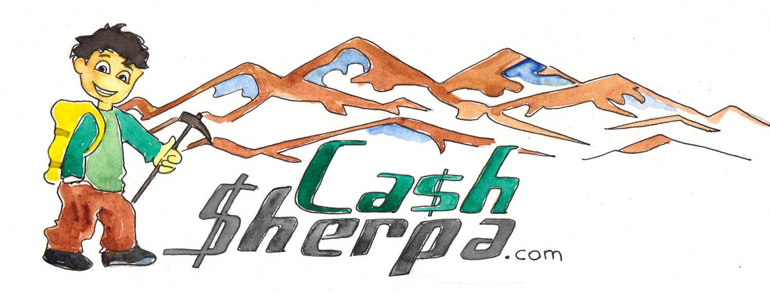 CashSherpa.com Logo Watercolor