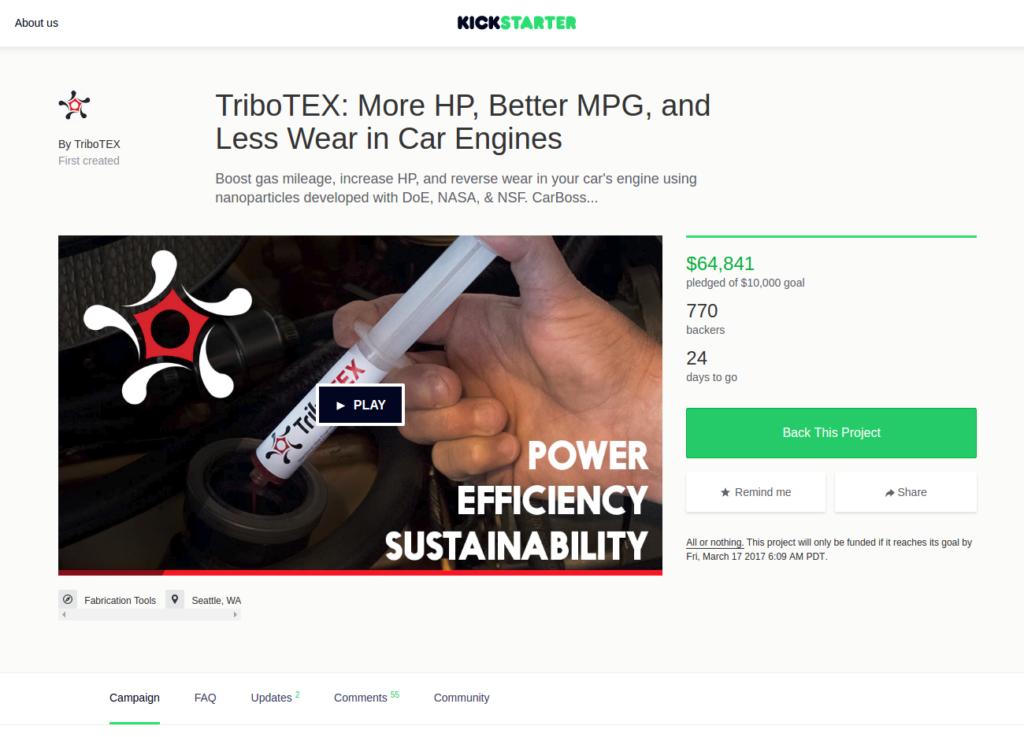 TriboTEX Kickstarter