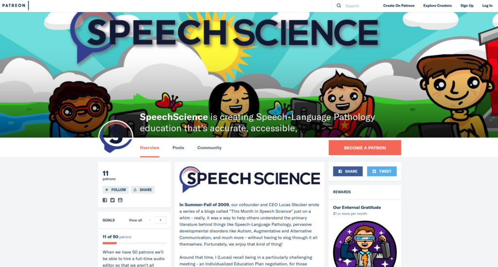 Speech Science Patreon