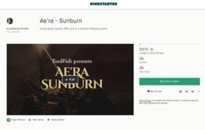 Kickstater Sunburn RPG