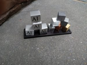 The periodic table cubes