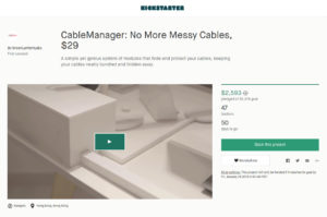 Kickstarter Cable Management