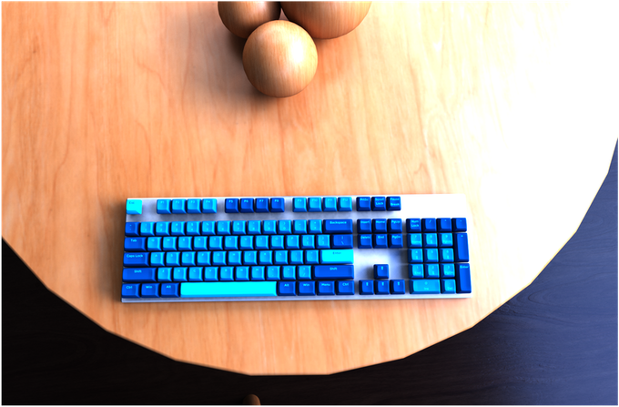 Keyboard On Table
